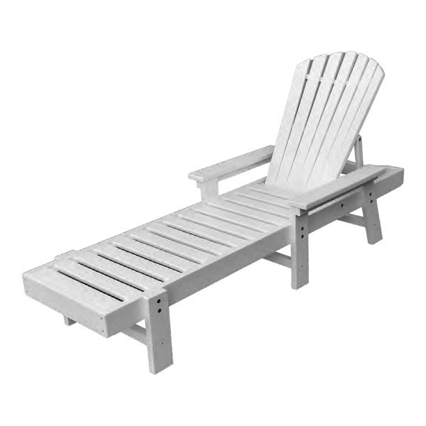 Fanback Recycled Plastic Chaise - 60 Lbs.