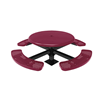 """RHINO 46"""" Round Solid Top Thermoplastic Polyolefin Coated Pedestal Picnic Table"""