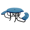 """RHINO 46"""" Wheelchair Accessible Round Solid Top Thermoplastic Polyolefin Coated Picnic Table - Quick Ship"""