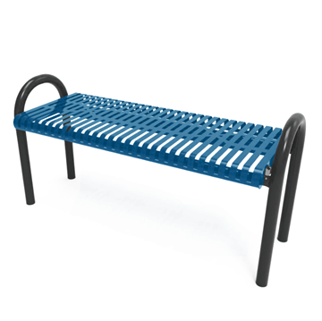 RHINO Slatted Steel MOD Bench without Back