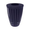 Elite Series 32 Gallon Downtown Thermoplastic Tapered Trash Receptacle