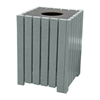 32 Gallon Landmark Collection Recycled Plastic Square Hinged Trash Receptacle