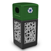 42 Gallon Intermingle Stainless Steel Paneled Recycle Receptacle