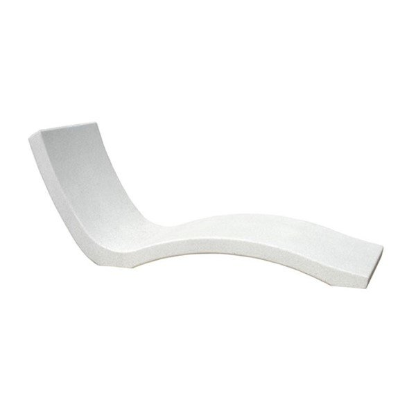 Reinforced Concrete Wave Chaise Lounge with Numerous Finish Options - 1430 lbs.