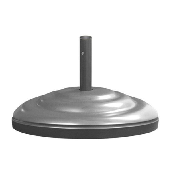 """Aluminum Umbrella 23"""" Base Powdercoated and Weighted with Concrete - 115 lbs."""