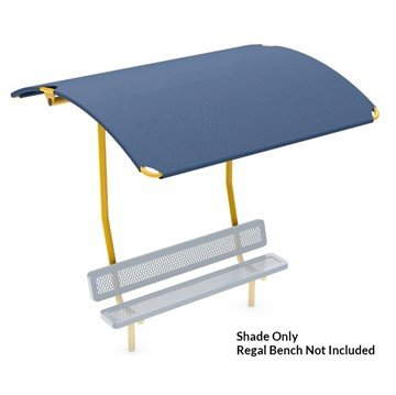 Bench Shade Attachment with Polyethylene Canopy - Canopy Only, Bench Not Included