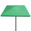 """6 Foot Square Fiberglass Umbrella Finished with Natural Off White Gel Coat with Powder Coated Black Steel 1 1/2"""" Pole"""