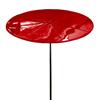 "6 Foot Round ""Starburst"" Fiberglass Umbrella with Powder Coated Black Steel 1 1/2"" Pole"