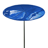"8 Foot Round ""Starburst"" Fiberglass Umbrella with Powder Coated Black Steel 1 1/2"" Pole"