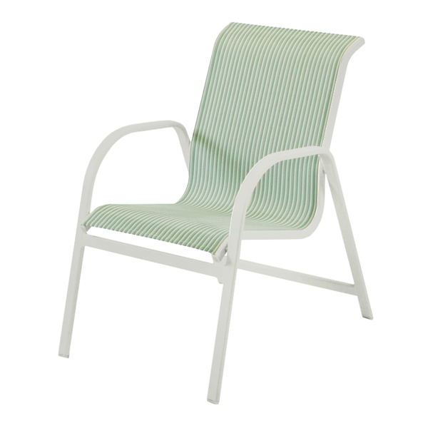 Ocean Breeze Dining Chair - Commercial Aluminum Frame With Sling Fabric