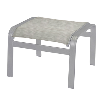 Skyway Sling Ottoman With Powder Coated Aluminum Frame