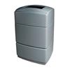 40 Gallon Poly Tec Polyethylene Rectangle Receptacle - Grey