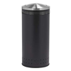 25 Gallon Precision Commercial Imprinted Steel Round Trash Receptacle With Flipper Door