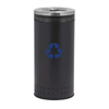 25 Gallon Precision Steel Round Recycling Receptacle With Recycler Top