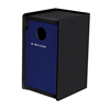 32-Gallon EarthCraft Side-Load Plastic Recycling Receptacle - 91 lbs.