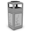 42 Gallon Stainless Steel CATTAILS Receptacle with Ash Tray Top