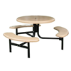 42 Round Fiberglass Picnic Table with Steel Frame