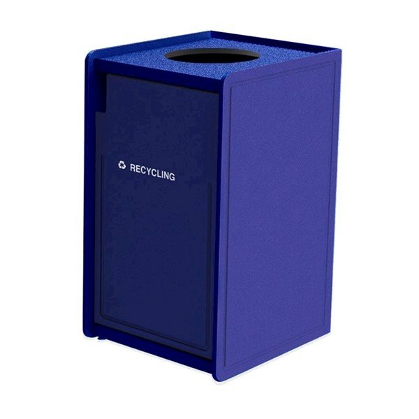 42-Gallon EarthCraft Top-Opening Plastic Recycling Receptacle - 92 lbs.