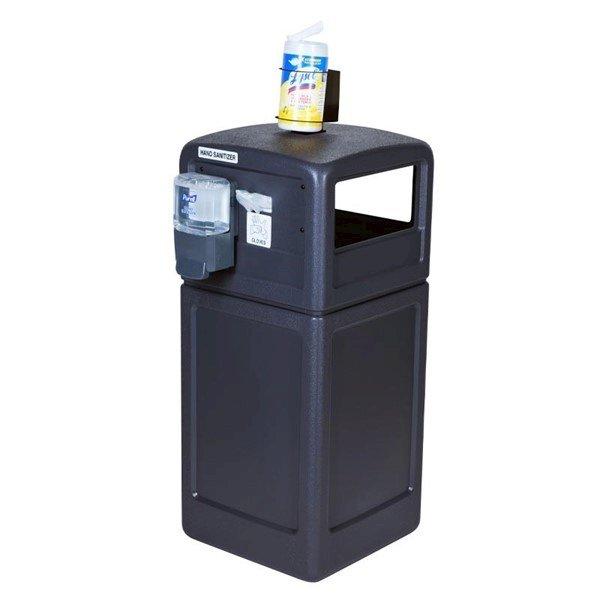 42-Gallon PolyTec Receptacle with Sanitation Station - 80 lbs.
