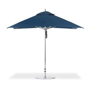 10 Foot Square Aluminum Frame Center Post Premium Umbrella with Marine Grade Fabric