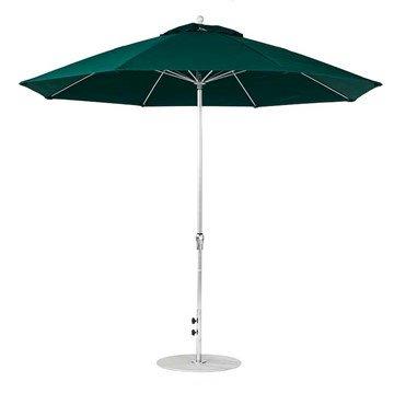 11 foot Diameter Fiberglass Market Umbrella with Crank