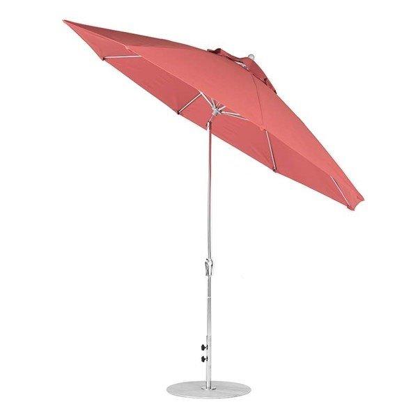 11 foot Diameter Fiberglass Market Umbrella with Auto Tilt Crank, Marine Grade Canopy