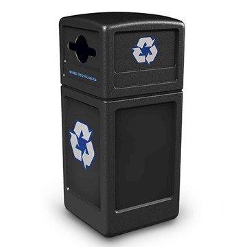 42 Gallon Recycle Top Plastic Trash Receptacle