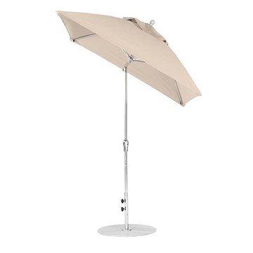 6.5 foot Square Fiberglass Crank Lift Auto Tilt Market Umbrella with Marine Grade Canopy