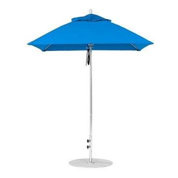 6.5 foot Square Fiberglass Market Umbrella with Marine Grade Canopy