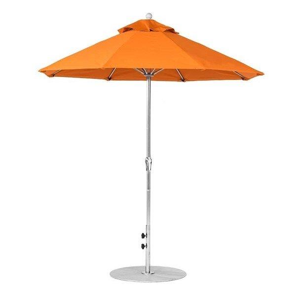 7.5 foot Diameter Fiberglass Crank Lift Market Umbrella