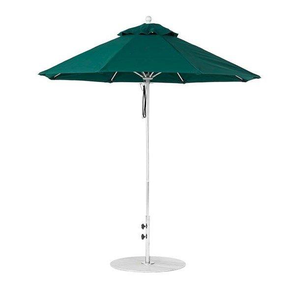 7.5 Foot Diameter Fiberglass Market Umbrella, Marine Grade Canopy