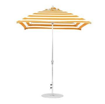 7.5 foot Square Fiberglass Crank Market Umbrella with Marine Grade Canopy