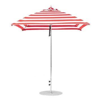 7.5 foot Square Fiberglass Market Umbrella with Marine Grade Canopy