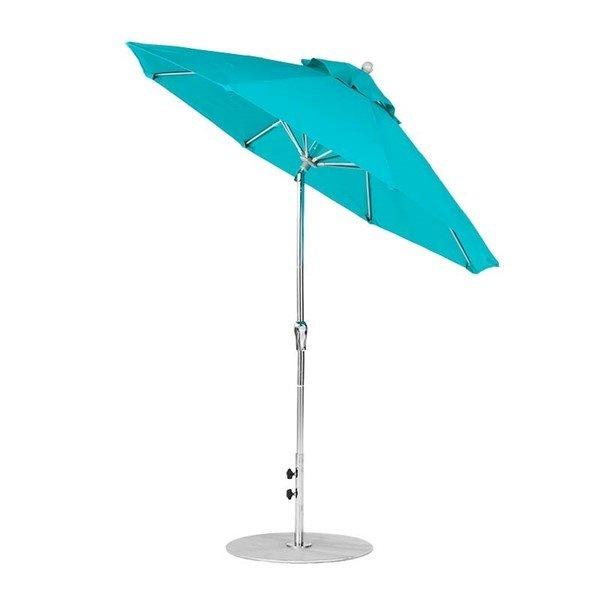 7.5 ft. Diameter Fiberglass Market Umbrella, Crank Auto Tilt, Marine Grade Canopy