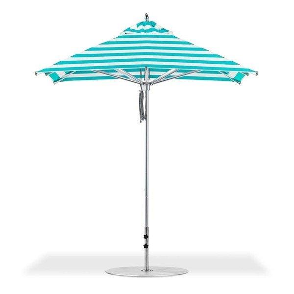 7.5 foot Square Aluminum Rib Market Umbrella, Marine Grade Top