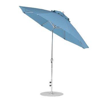 9 foot Diameter Fiberglass Auto Tilt Crank Lift Market Umbrella, Marine Grade Canopy