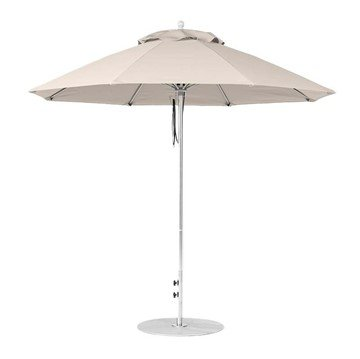 9 foot Diameter Fiberglass Market Umbrella, Marine Grade Canopy