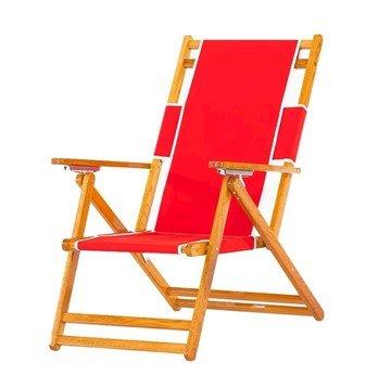 Oak Wood Marine Grade Fabric Beach Chair