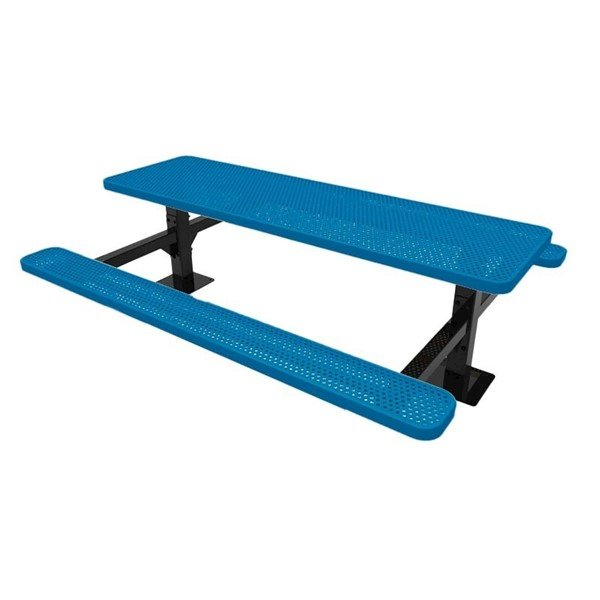 RHINO 8 ft. Thermoplastic Polyolefin Coated Double Pedestal Picnic Table