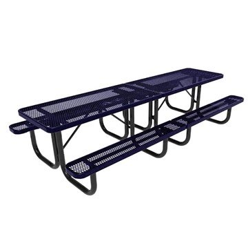 RHINO 10 ft. Thermoplastic Polyolefin Coated Picnic Table - Quick Ship - 368 lbs.