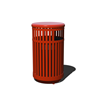 32-Gallon Vertical Strap Trash Receptacle with Steel Slats