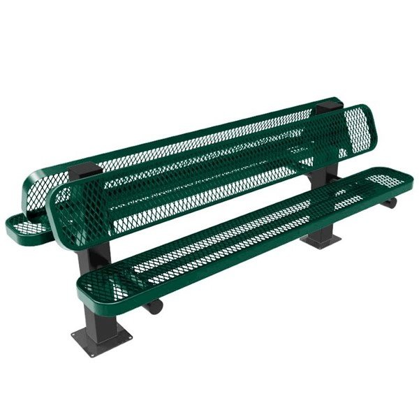 ELITE Double-Sided Pedestal Bench