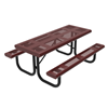 RHINO 6 ft. Thermoplastic Polyolefin Punched Steel Picnic Table