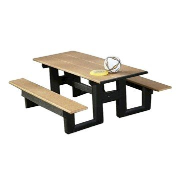 Step Thru Recycled Plastic Picnic Table