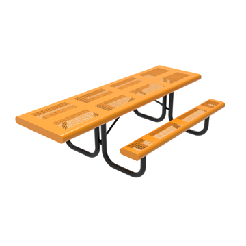 RHINO 8 Ft. Thermoplastic Polyolefin Punched Steel ADA Compliant Picnic Table