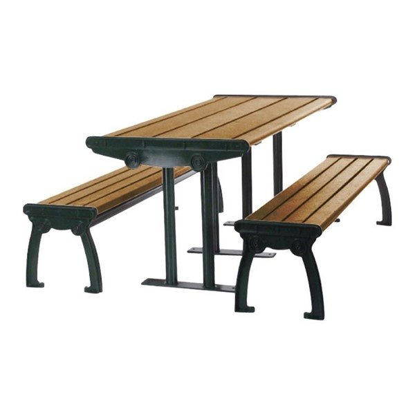 8 Ft. Park Ave Recycled Plastic Picnic Table With Aluminum Frame - 545 Lbs.