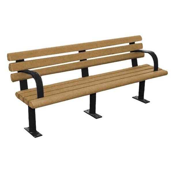Park Scapes Recycled Plastic Bench With Steel Frame