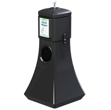 Sanitizing Wipes Dispenser with 19-Gallon Waste Can - 15 lbs.