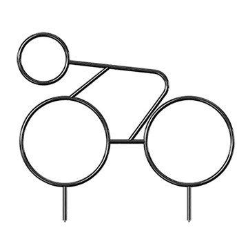 """Custom Racer Bike Rack - 1.3"""" Powder Coated Steel"""