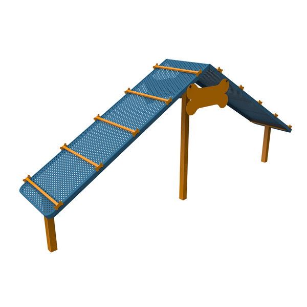 Dog Park Climb Platform Punched Steel